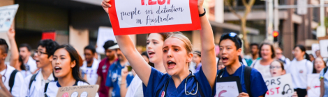 Medical students are sick of the government harming refugees in detention